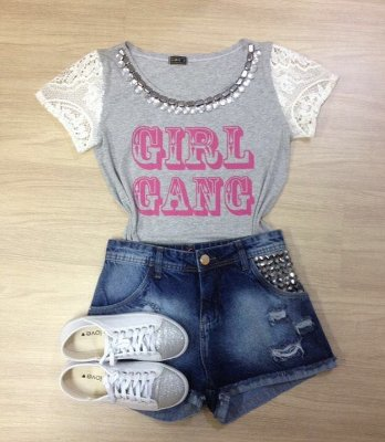 Tee Shirt Girls Gand Mangas Rendadas