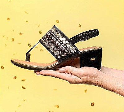 Sandália Dakota Bordado Caramelo