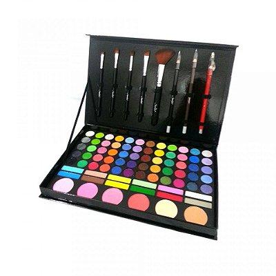 Kit de Maquiagem com Sombras 3D e Foscas Jasmyne V248