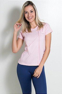 Camiseta de Malha com Ponto de Cobertura
