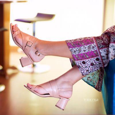 Sandália Clássica Rosê - Torricella