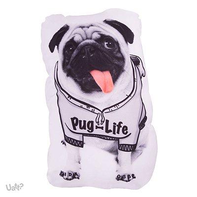ALMOFADA SHAPE PET - PUG LIFE