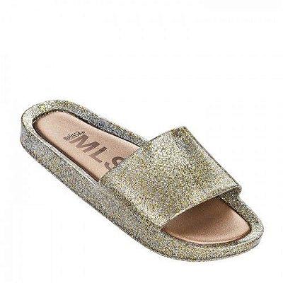 Chinelo Melissa Beach Slide - Glitter