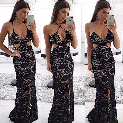 Vestido Longo Rendando - Lary