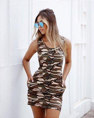Vestido Curto Militar