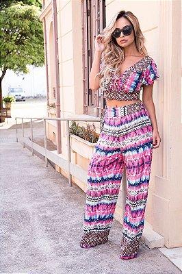 Conjunto Cropped e Pantalona - Susi