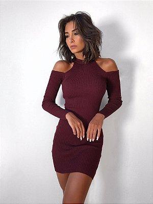 Vestido Ombro Vazado - Arraza