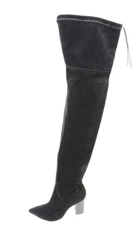 Bota High Knee bico fino de camurça – Stella Zac