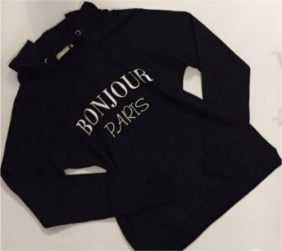 Blusa de Moletom com Capuz Bonjuor Paris - Arraza