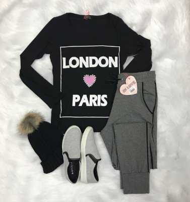 T-shirt Manga Longa London S2 Paris - InLove