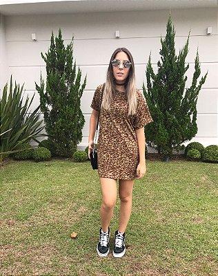 Vestido Camisetão Onça - Inlove