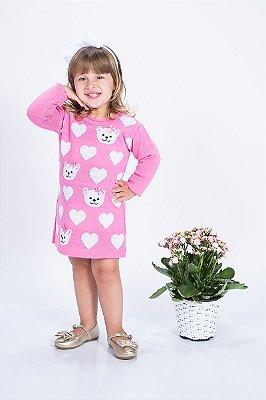 Vestido de Tricot Gatinhas Ref: LCat