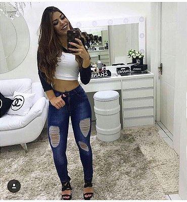 Calça Destroyed Skinny Lorena