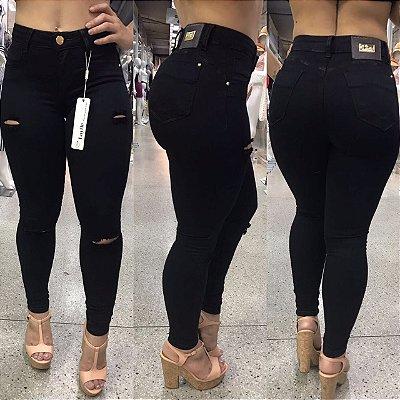 Calça Jeans Skinny Destroyed