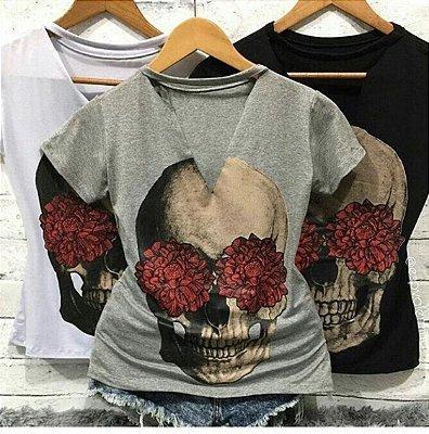 T-shirt Choker Caveira Dália