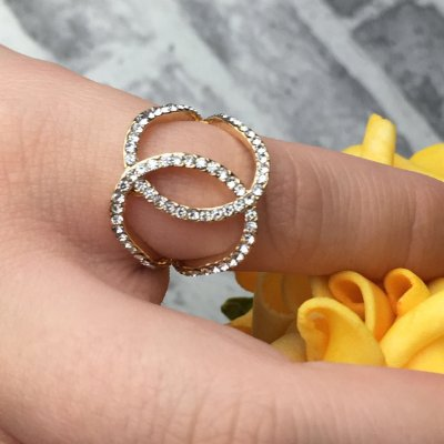 Anel Strass Luxo