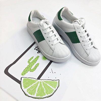 Tênis Casual Detalhe Verde