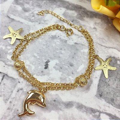Pulseira Dourada Estrela do Mar