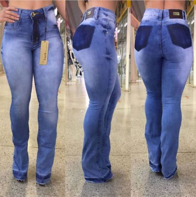 Calça Jeans Manchada Grazi