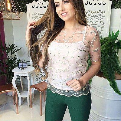 T-shirt Tule Flores