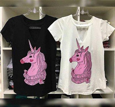 T-shirt Choker Unicórnio