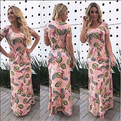 Vestido Longo Bolsos Vanessa