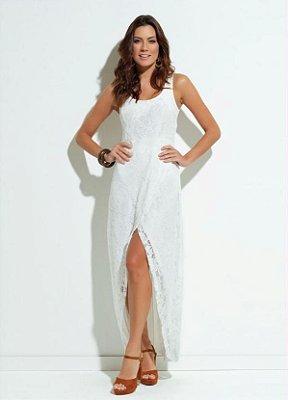 Vestido Off White em Renda Mullet