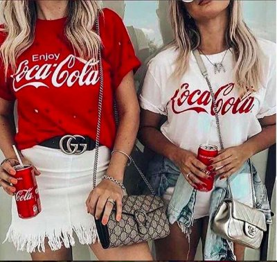 T-Shirt Podrinha Coca-Cola