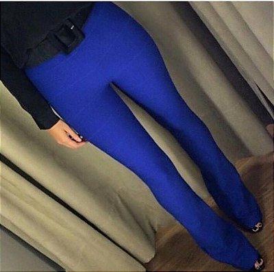 Calça Flare Bandagem Azul