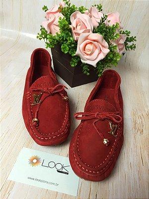 Mocassim Louis Vuitton - Vermelho