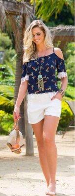 Conjunto Summer Birds -  Short + Blusa
