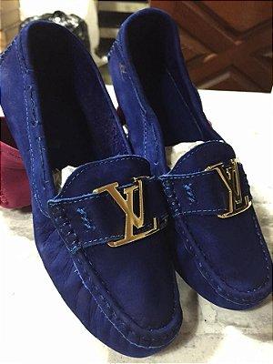 Mocassim Louis Vuitton - Azul Bic -  Novo Modelo