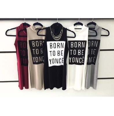 Tee Shirt Longa Born Be Yonce