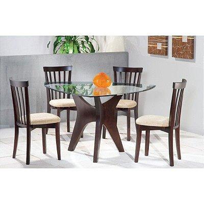 Sala de Jantar Flávio Móveis Gramado 1,30 x 1,30 - (04 Cadeiras )