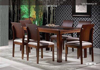 Sala de Jantar 1,40 x 90 - 06 Cadeiras - Compre Pelo PagSeguro em até 17 Parcelas - Clique em Ver Mais seu Parcelamento.