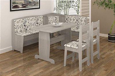 Sala de Jantar Banco de Canto Alemão Flávio Móveis - Compre Pelo PagSeguro em até 17 Parcelas - Clique em Ver Mais seu Parcelamento.