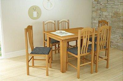 Sala de Jantar Flávio Móveis 1,60 x 83 - 06 Cadeiras