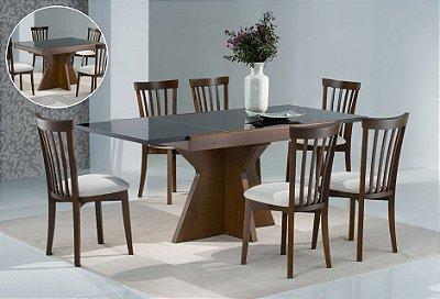 Sala de Jantar 1,25 x 85 (+ 60cm ) - 06 Cadeiras