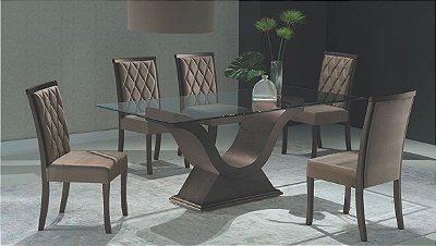 Sala de Jantar 1,80 x 1,00 - 06 Cadeiras - (12 Parcelas Sem Juros - Frete Grátis )