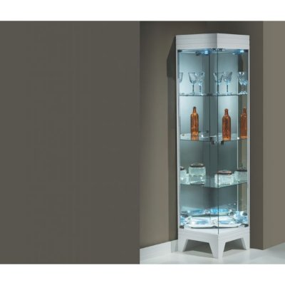 Cristaleira de Canto Com luz 1,87 x 45 x 45