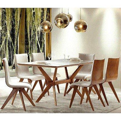 Sala de Jantar 1,40 x 90 - 06 Cadeiras
