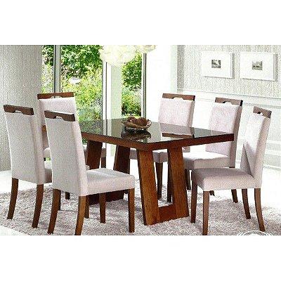 Sala de Jantar 1,80 x 1,00 - 06 Cadeiras