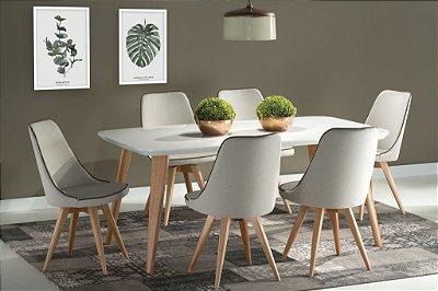 Sala de Jantar 1,60 x 90 - 06 Cadeiras