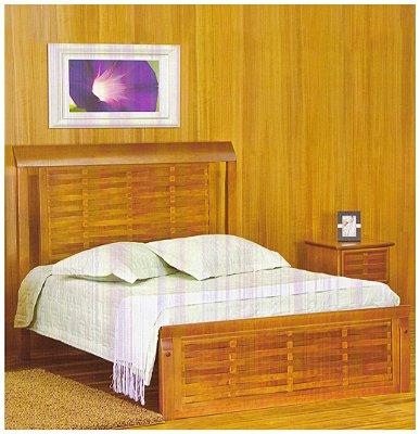 Cama de Casal king Size 1,95 x 2,05 x 1,20 - Madeira Maciça