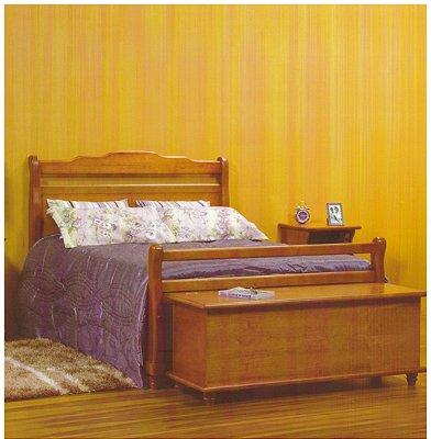 Cama de Casal 1,40 x 1,90 - Madeira Maciça