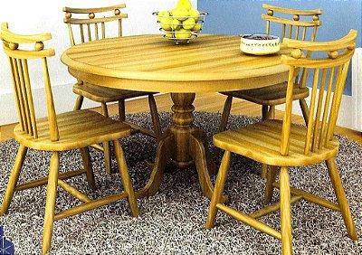 Sala de Jantar Flávio Móveis Gramado 1,10 x 1,10 - ( 04 Cadeiras )