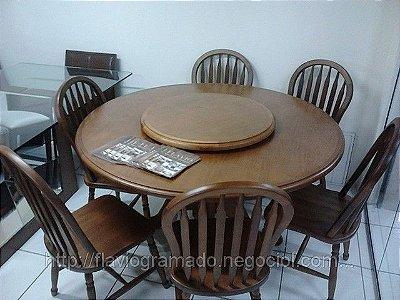 Sala de Jantar Flávio Móveis Gramado 1,50 x 1,50 - (06 Cadeiras )
