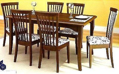 Sala de Jantar Mesa Retangular Flávio Móveis Gramado 1,60 x 90