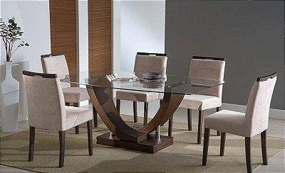 Sala de Jantar Mesa Retangular Flávio Móveis 1,60 x 1,00