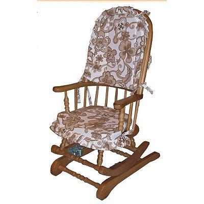 Cadeira de Balanço 1,18 x 50 x 50 - Com Almofadas